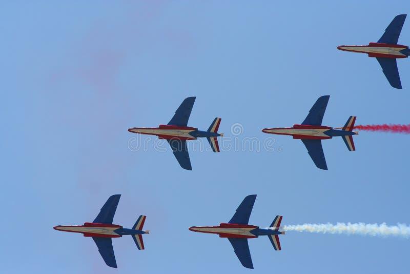 Самолет-истребители выставки воздуха стоковые изображения