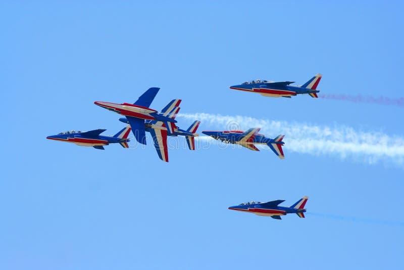 Самолет-истребители в airshow стоковые изображения