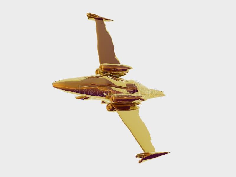 Download самолет-истребитель золотистый Иллюстрация штока - иллюстрации насчитывающей плоскости, европа: 495796