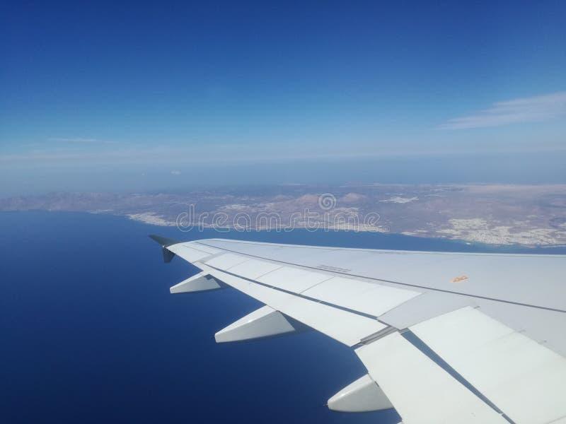 Самолет Лансароте стоковые изображения