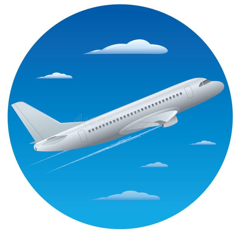 Самолет пассажира иллюстрация вектора