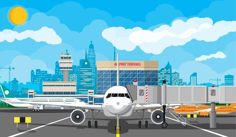 Самолет перед взлетом бесплатная иллюстрация