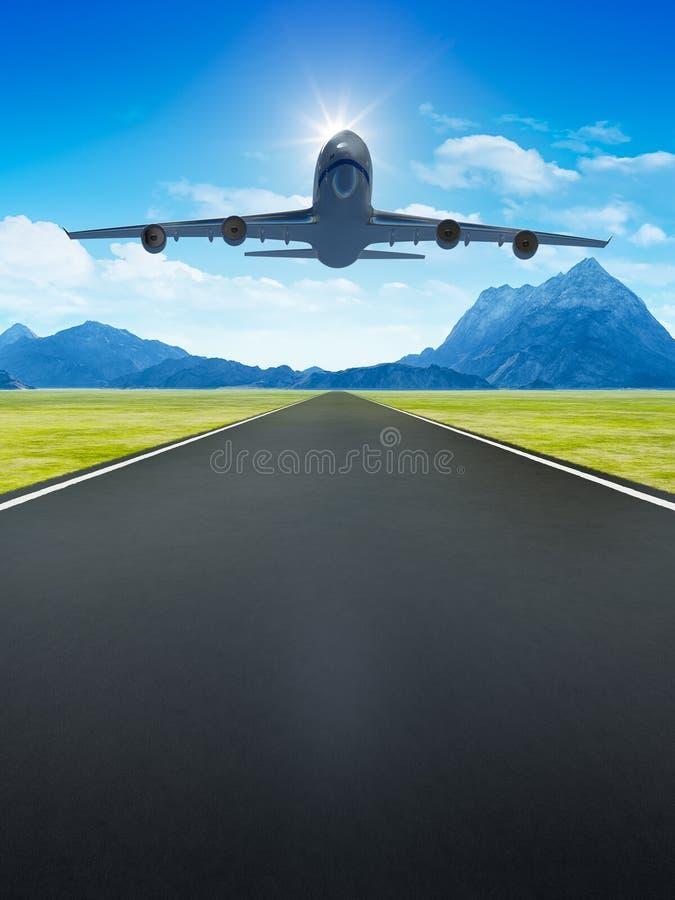 самолет принимает бесплатная иллюстрация