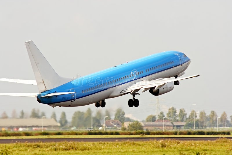 самолет с принимать стоковое фото rf
