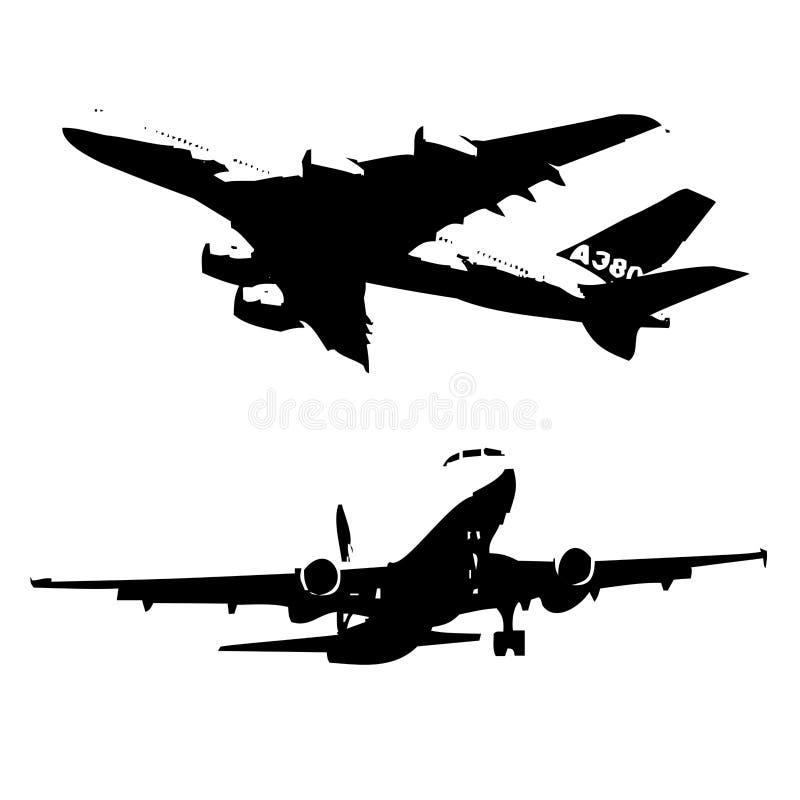 самолет airbus иллюстрация штока