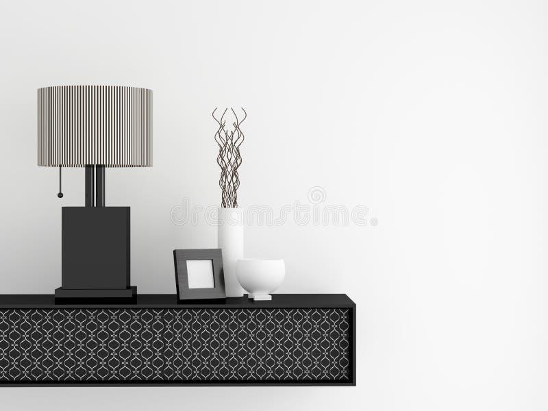 Самомоднейшая живущая мебель комнаты. Дизайн интерьера. иллюстрация вектора