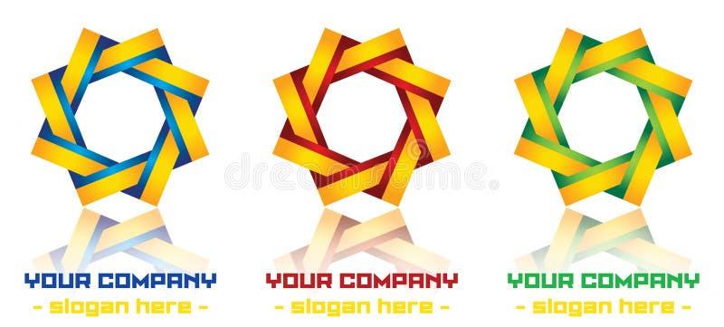 Самомоднейшая конструкция логоса иллюстрация штока