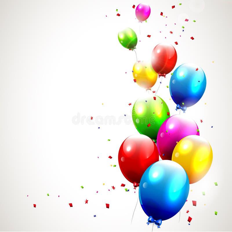 Самомоднейшая предпосылка дня рождения иллюстрация вектора
