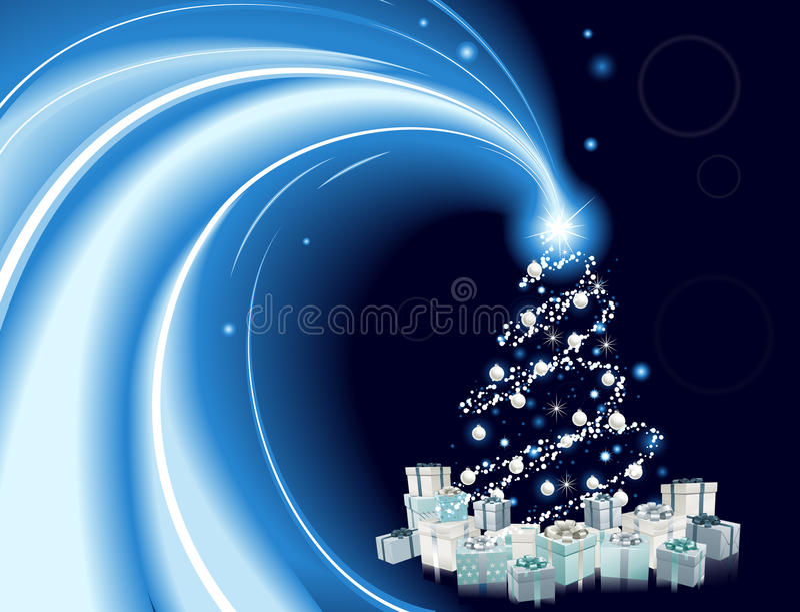 Самомоднейшая предпосылка рождественской елки типа бесплатная иллюстрация