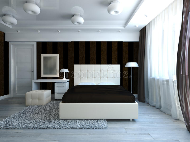 Самомоднейшая спальня иллюстрация штока