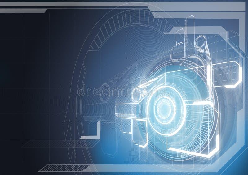самомоднейшая технология иллюстрация вектора