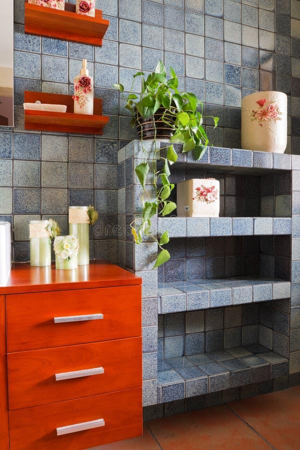 самомоднейшее ванной комнаты нутряное стоковое изображение rf