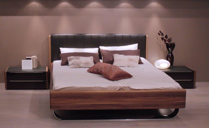 самомоднейшее конструкции спальни нутряное стоковые фото