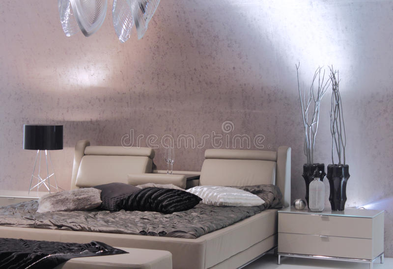 самомоднейшее конструкции спальни нутряное стоковое изображение rf