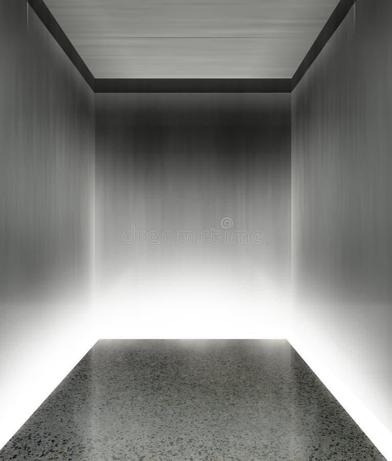 самомоднейшее лифта 3d нутряное иллюстрация штока