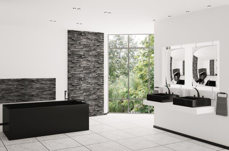 самомоднейшие ванной комнаты 3d нутряные представляют иллюстрация штока
