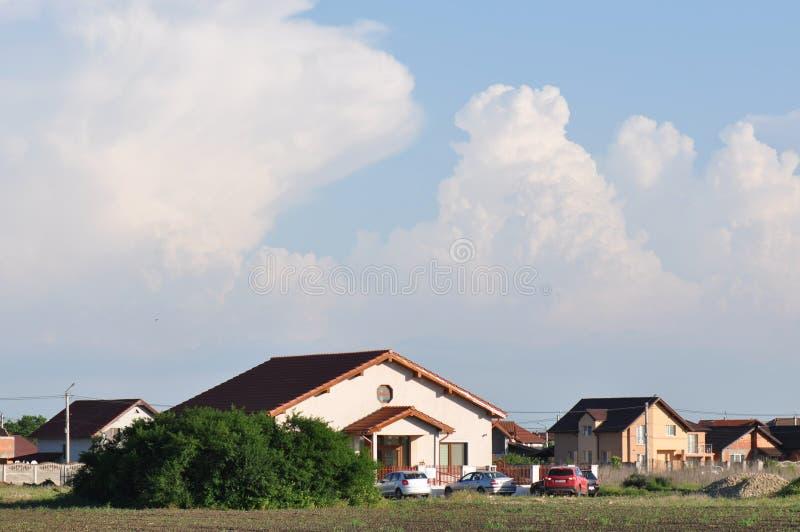 Самомоднейшие дома стоковая фотография rf