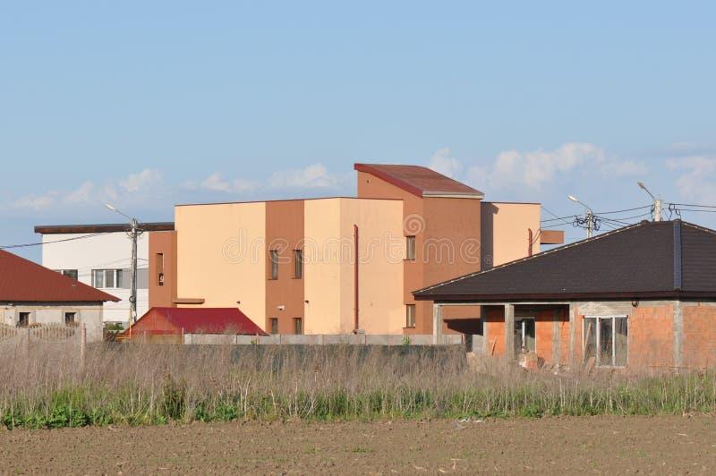 Самомоднейшие дома стоковое изображение