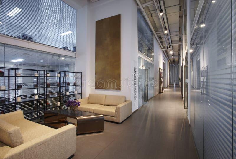 самомоднейшие размеры офиса стоковое изображение