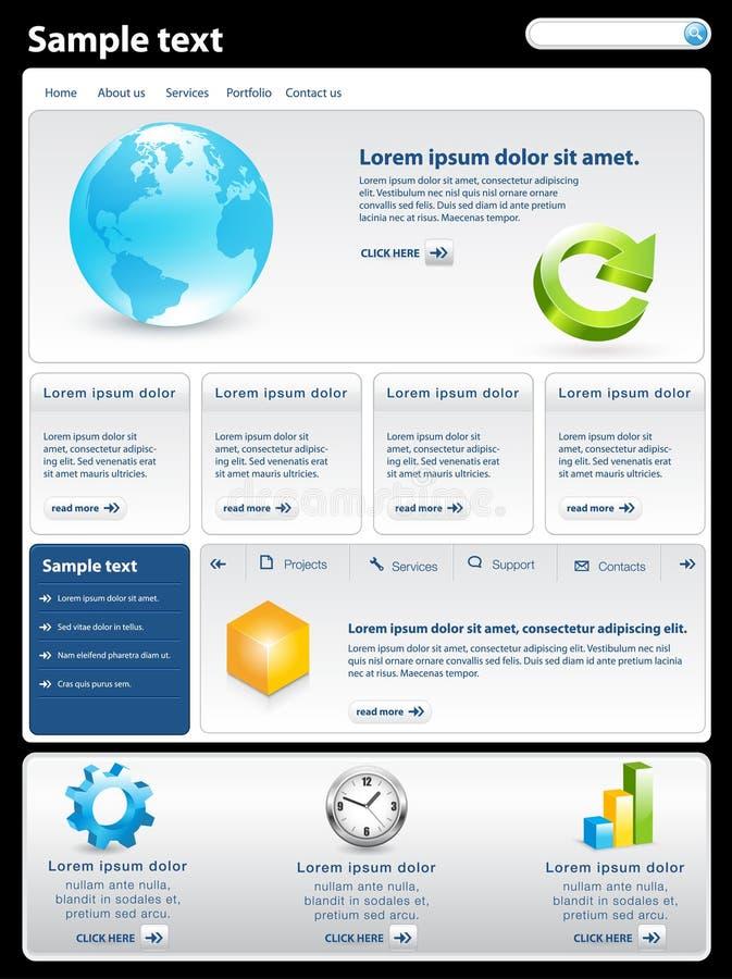 самомоднейший вебсайт шаблона иллюстрация вектора