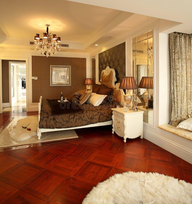 Самомоднейший дизайн интерьера - спальня стоковое фото rf