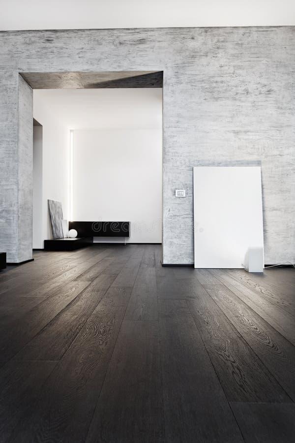 Самомоднейший интерьер корридора типа minimalism стоковая фотография rf