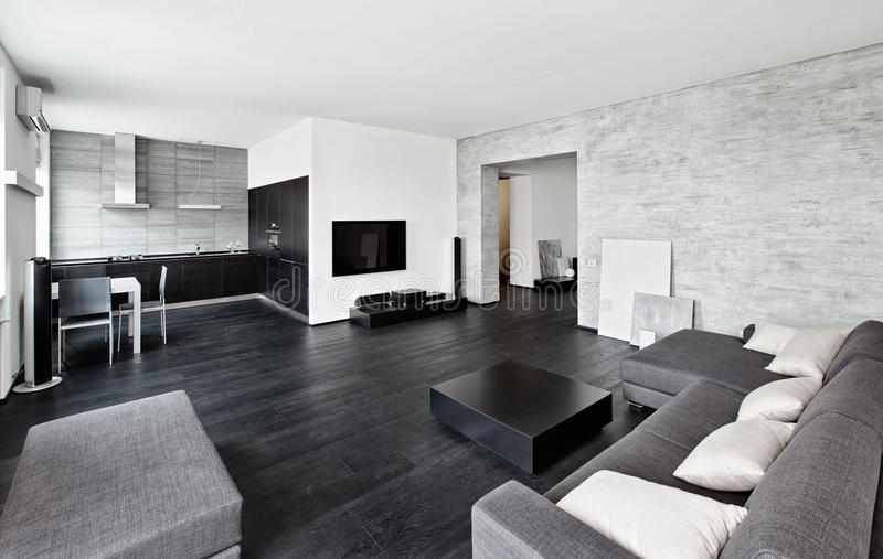 Самомоднейший интерьер drawing-room типа minimalism стоковые изображения rf