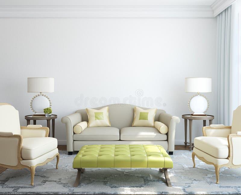 Самомоднейший интерьер living-room. иллюстрация вектора