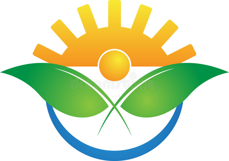 Самомоднейший логос земледелия бесплатная иллюстрация