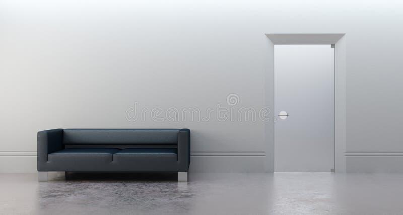 самомоднейший офис 3d представляет иллюстрация вектора
