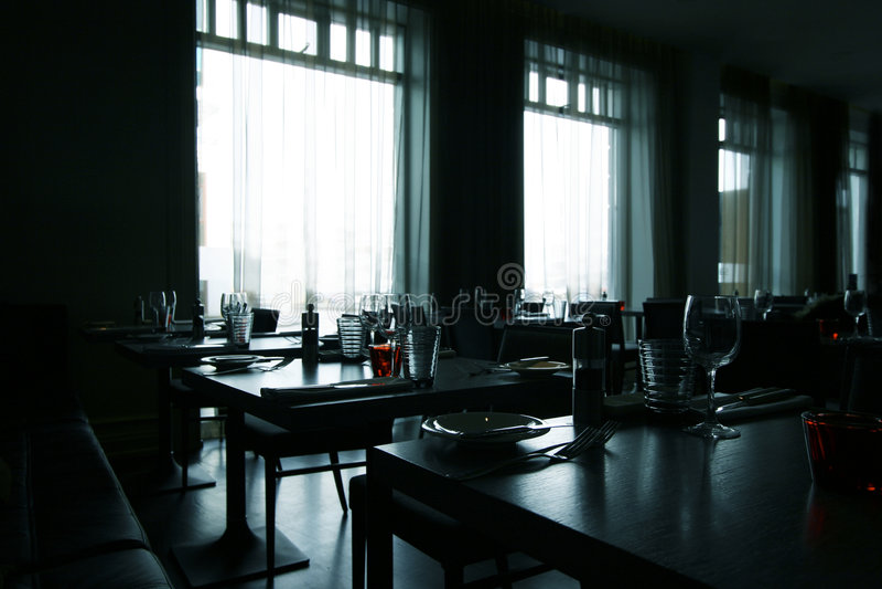 самомоднейший ресторан стоковое фото rf