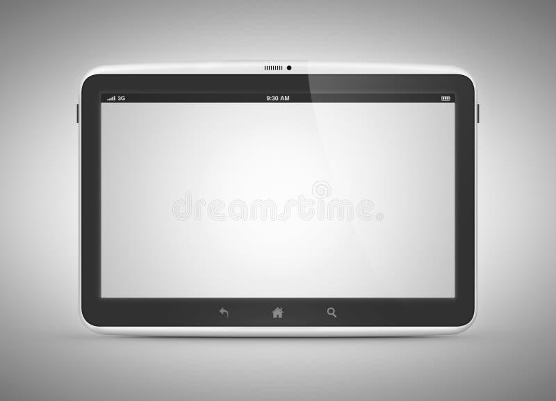 Самомоднейший цифровой компьютер таблетки бесплатная иллюстрация