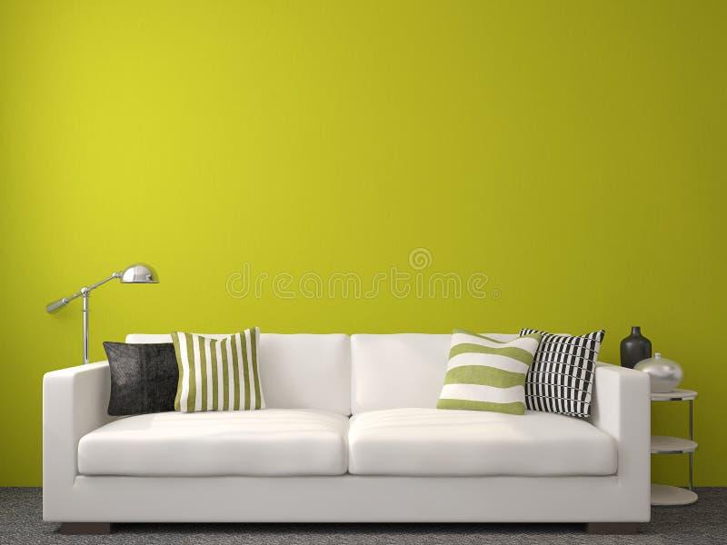 Самомоднейший living-room иллюстрация вектора