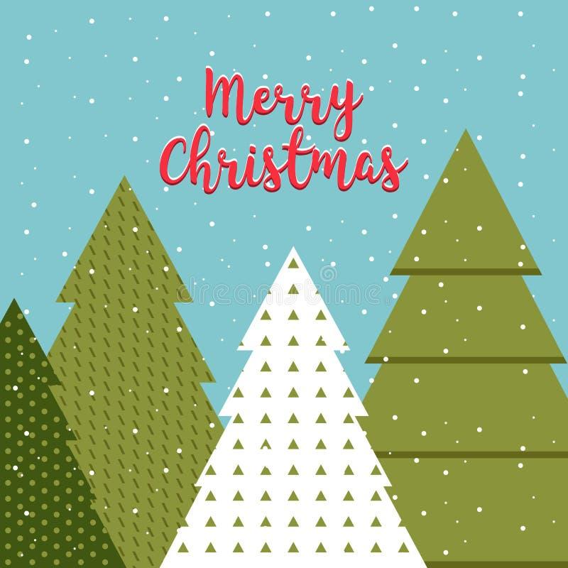 Самомоднейшая абстрактная предпосылка рождественской елки вал рождества геометрический иллюстрация штока