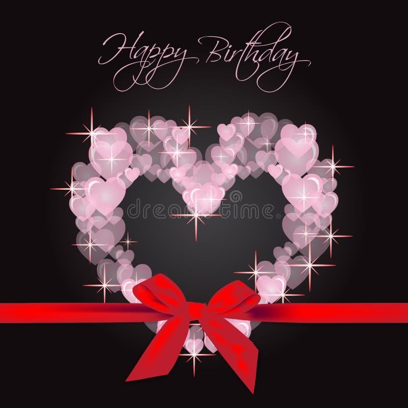 Поздравительая открытка ко дню рождения с днем рождения иллюстрация вектора
