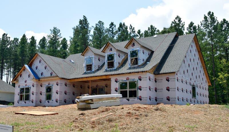 Самомоднейшая дом под конструкцией стоковое изображение rf