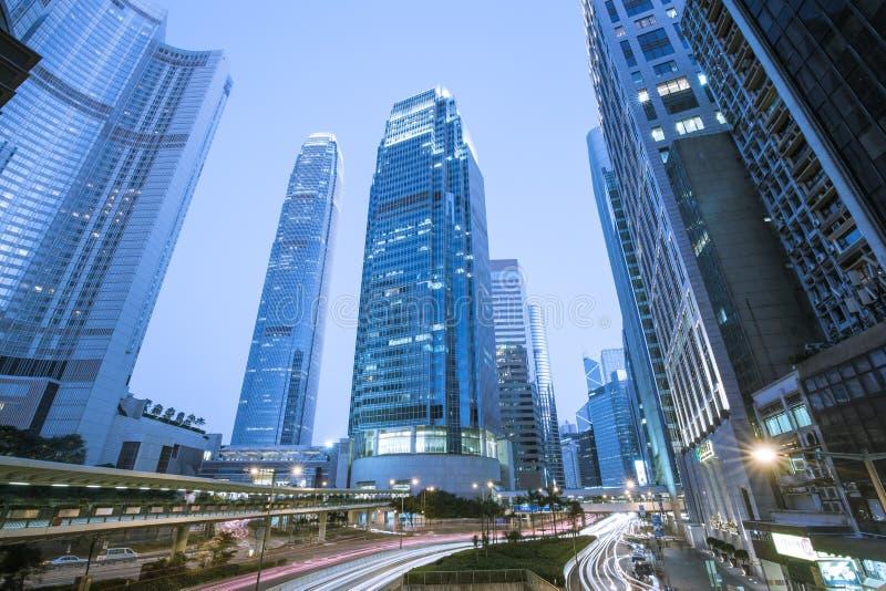 Самомоднейшие офисные здания в центральном Hong Kong стоковые фотографии rf