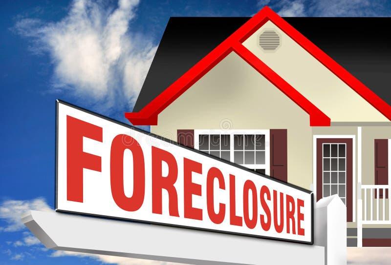 Самонаведите знак foreclosure иллюстрация вектора