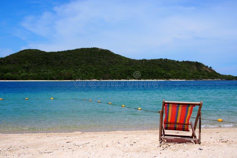 Самостоятельно на пляже стоковое изображение rf