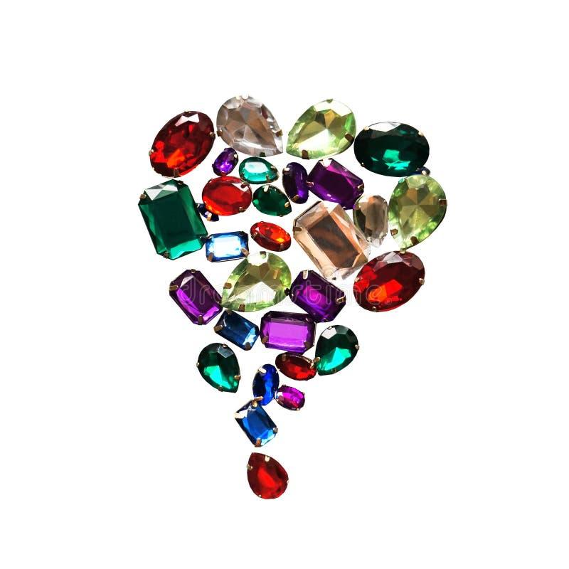 Самоцветы ярких блесков ювелирных изделий сияющих камней очарования сверкная обрамляют предпосылку стоковые изображения rf