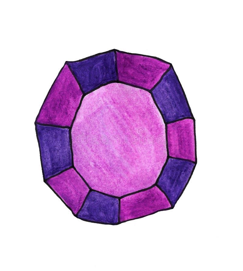 Самоцвет пурпура акварели бесплатная иллюстрация