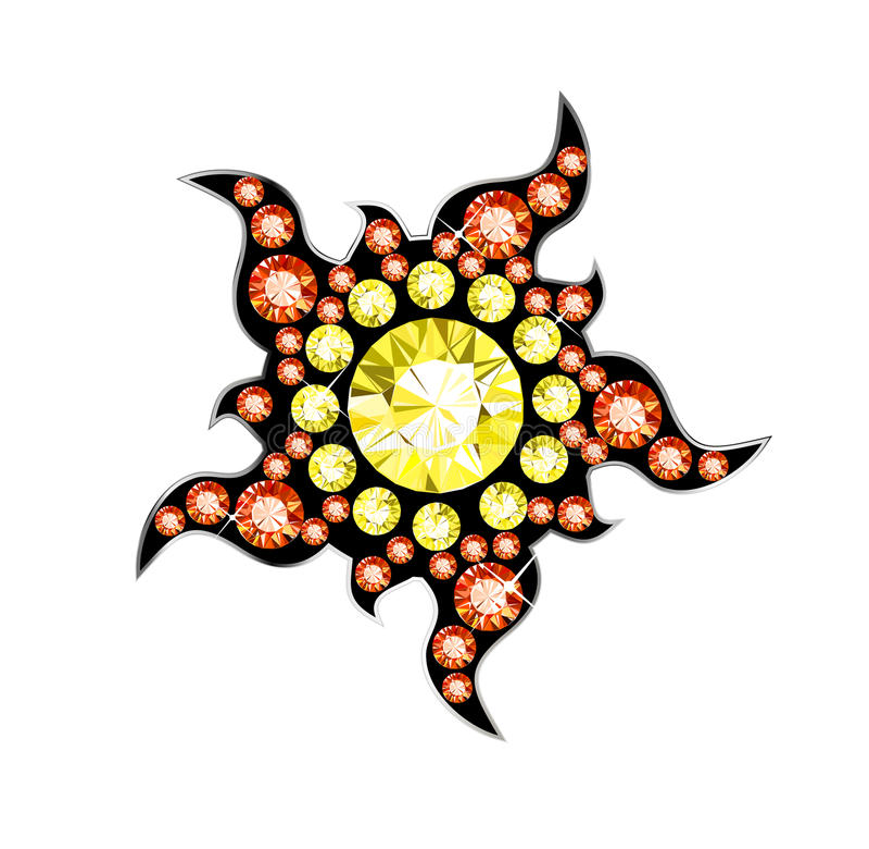 Самоцвет Солнце бесплатная иллюстрация