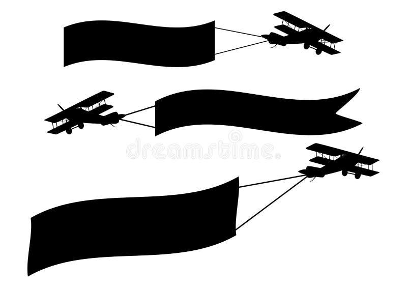 Самолеты с знаменами бесплатная иллюстрация