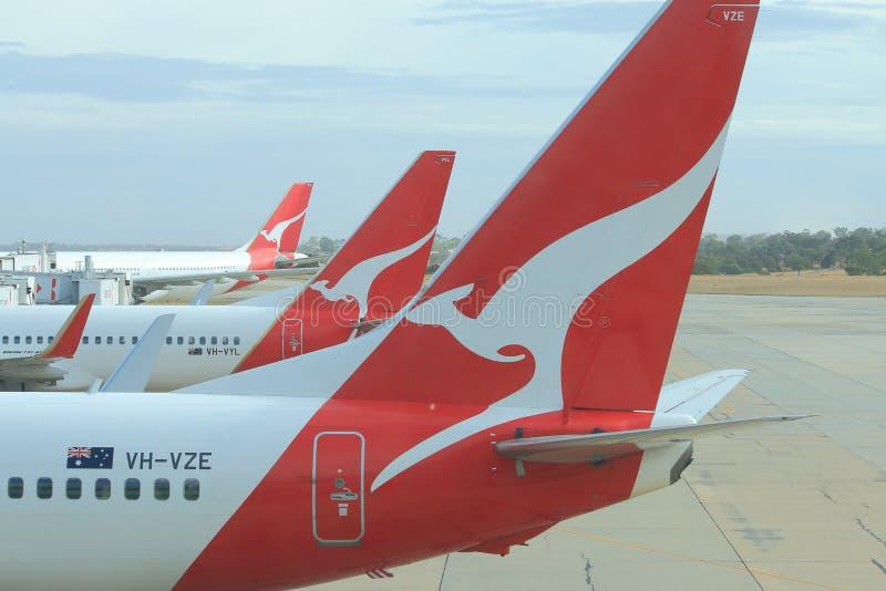 Самолеты Qantas стоковые фотографии rf