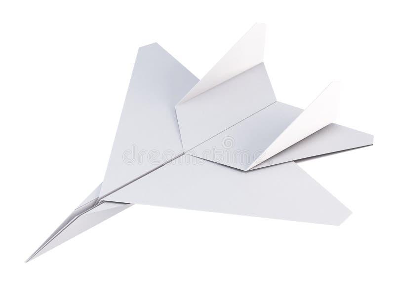 Самолет белой бумаги на белой предпосылке перевод 3d бесплатная иллюстрация