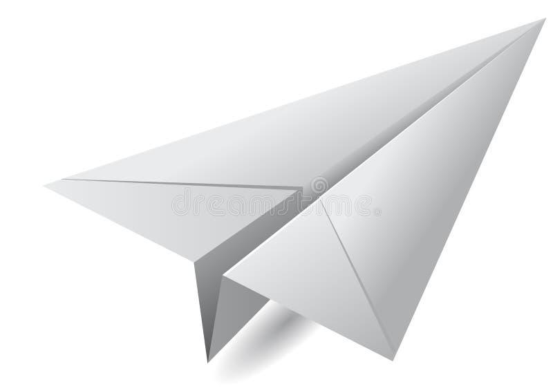 Самолет белой бумаги иллюстрация вектора
