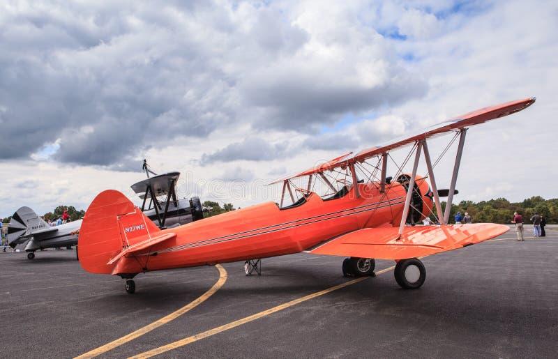 Самолет-биплан Stearman PT-27 стоковое изображение rf