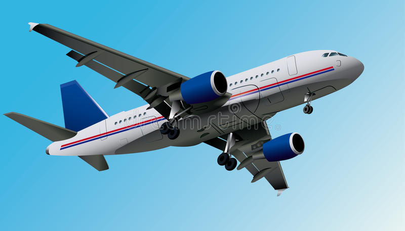 Самолет, вектор eps10 стоковая фотография