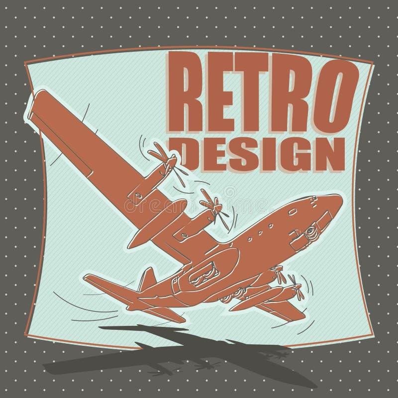 Самолет воздушные судн, авиакомпания, переход, бомбардировщик иллюстрация штока