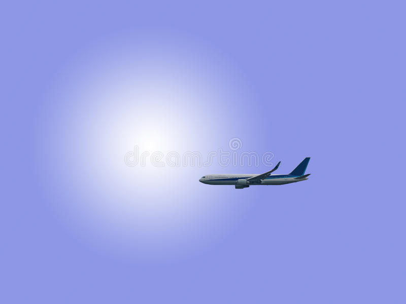Самолет в небе стоковое фото rf